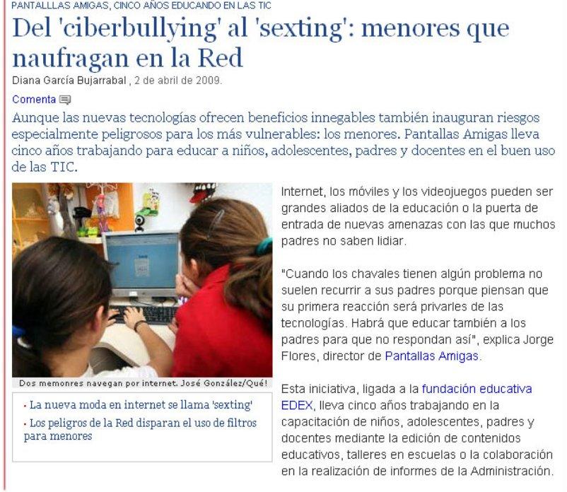 Del 'ciberbullying' al 'sexting': menores que naufragan en la Red