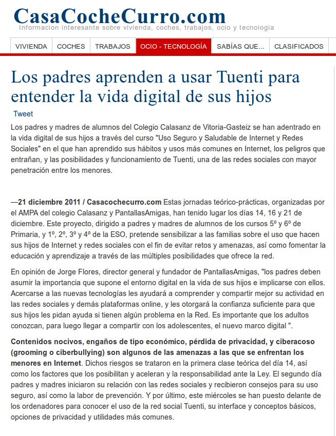 Los padres aprenden a usar Tuenti para entender la vida digital de sus hijos