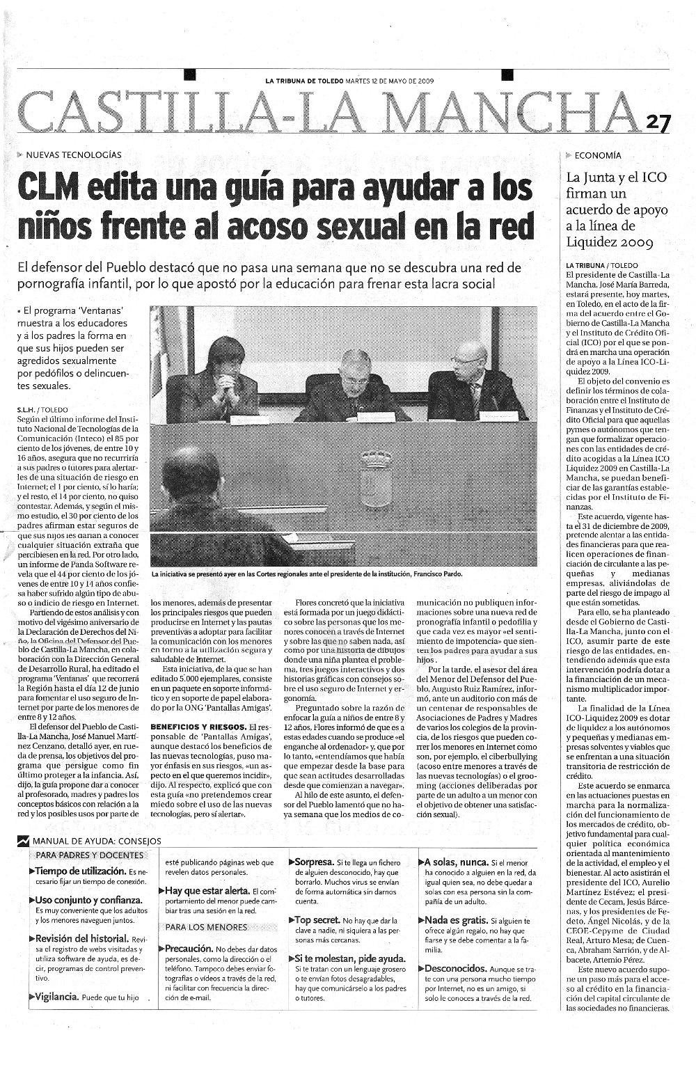 CLM edita una guía para ayudar a los niños frente al acoso sexual en la red