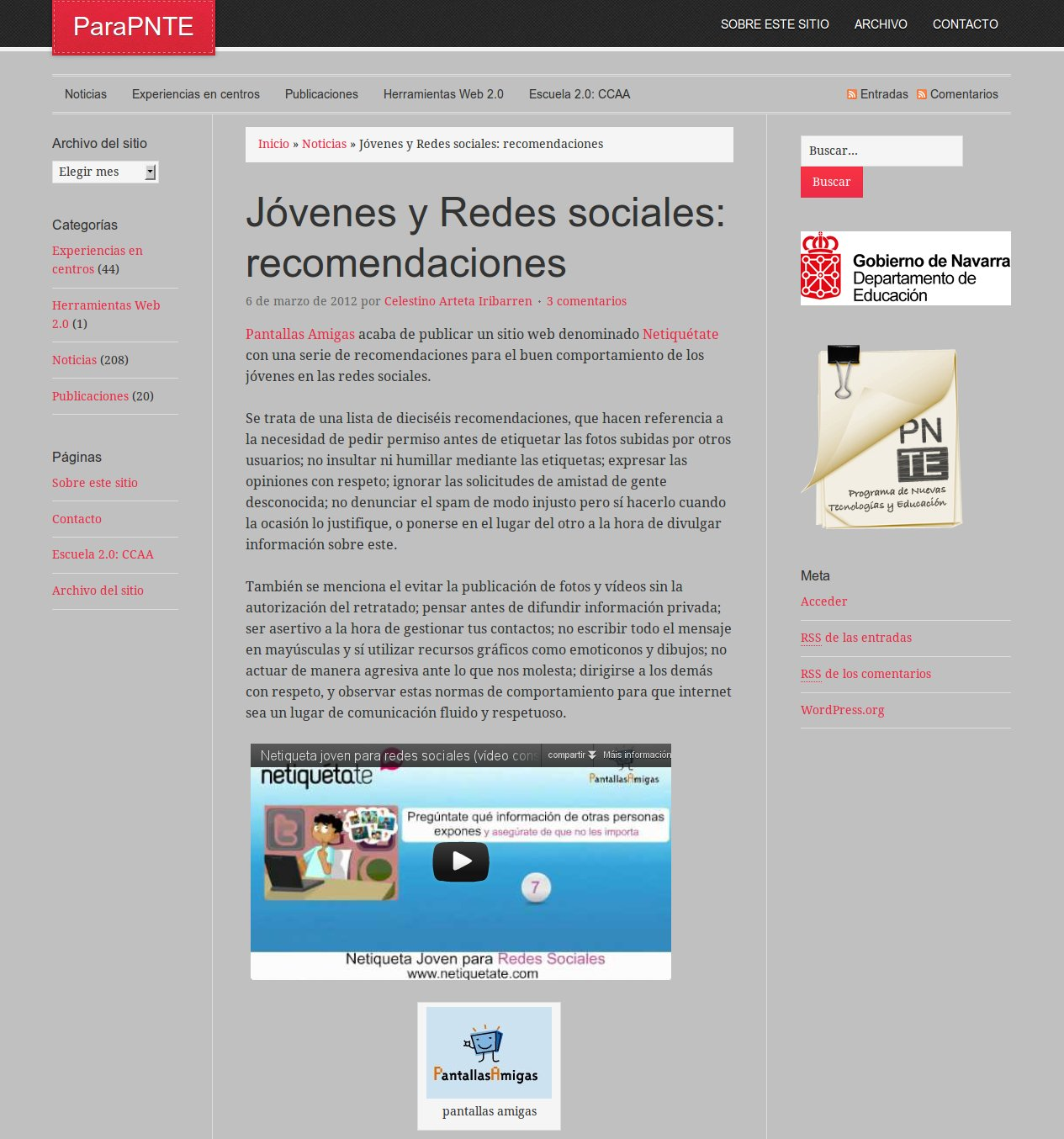 Jóvenes y Redes sociales: recomendaciones