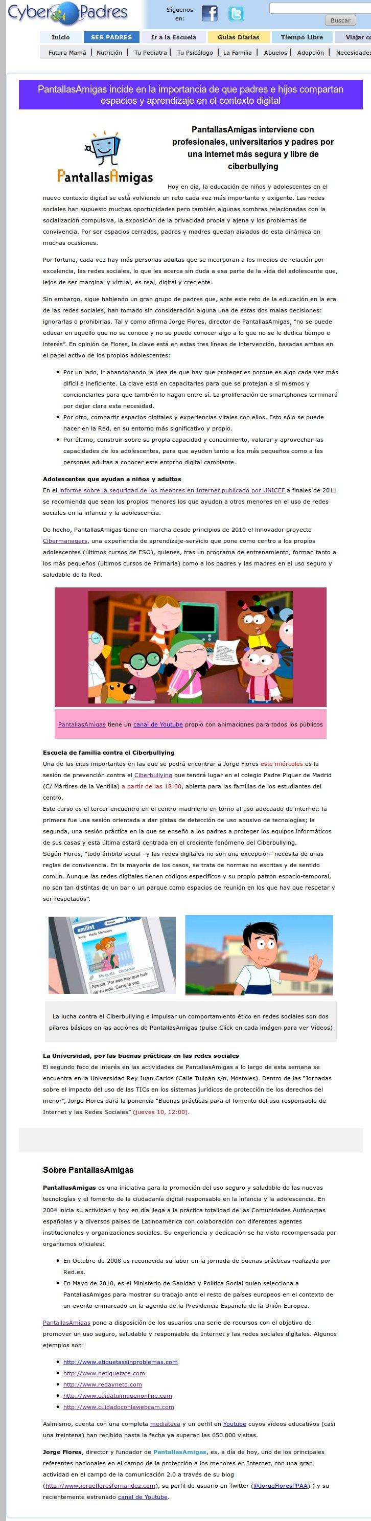 PantallasAmigas incide en la importancia de que padres e hijos compartan espacios y aprendizaje en el contexto digital