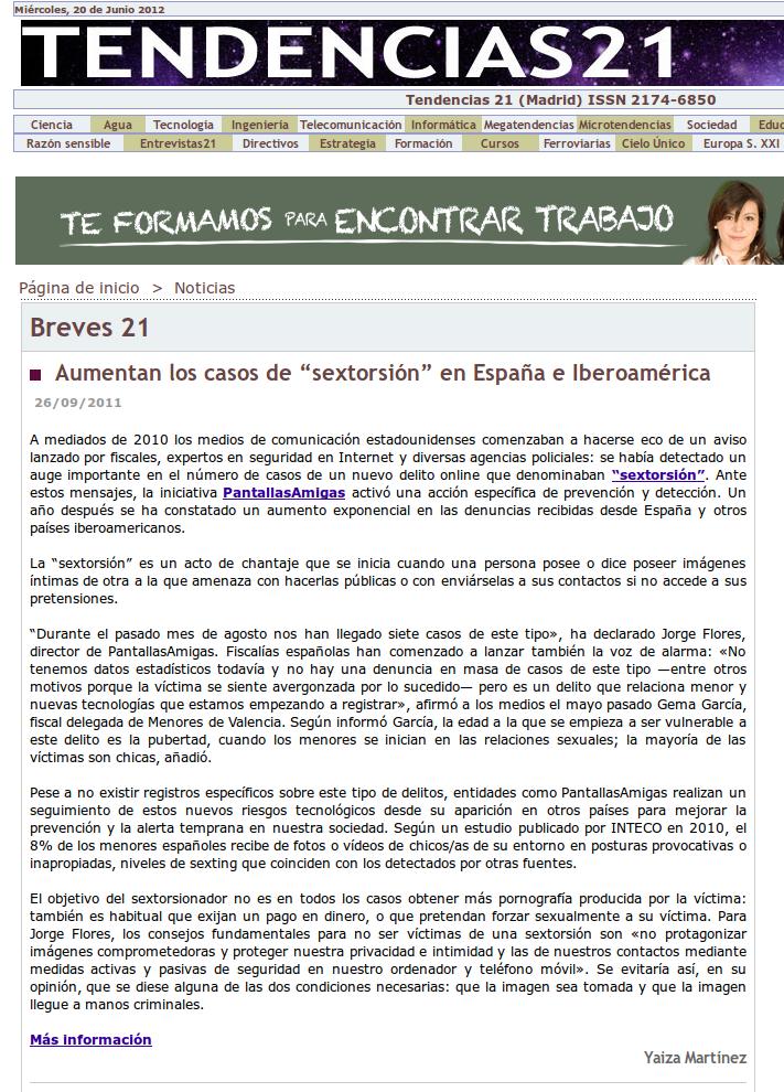 Aumentan los casos de sextorsión en España e Iberoamérica