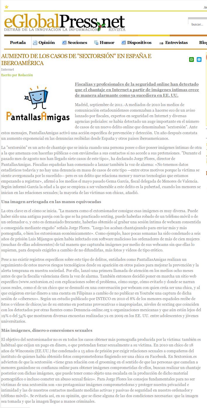Aumento de los casos de sextorsión en España e Iberoamérica
