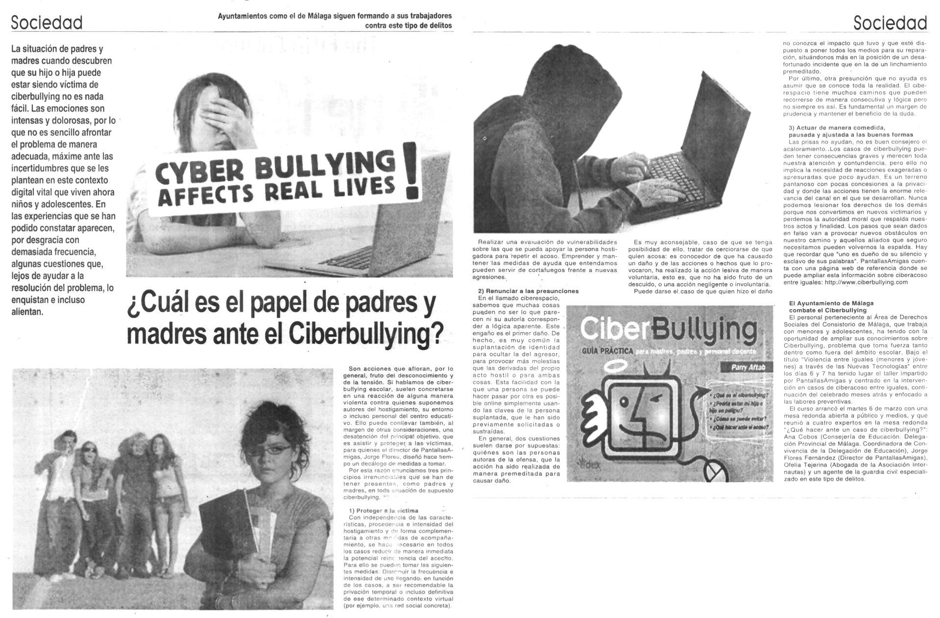 ¿Cuál es el papel de madres y padres ante el Ciberbullying?