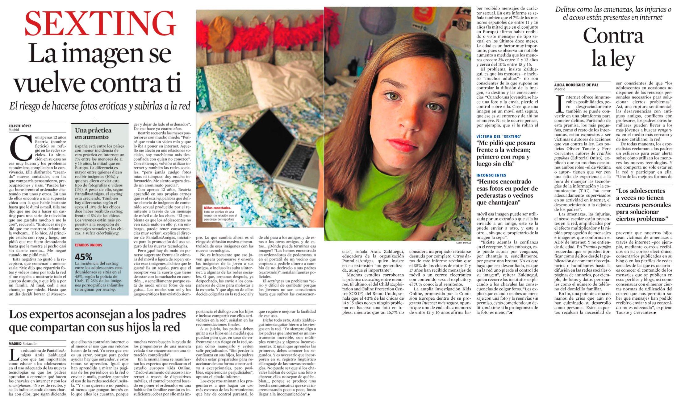 Sexting: la imagen se vuelve contra ti