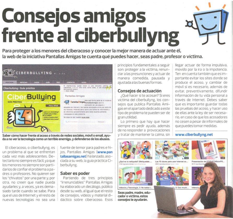 Consejos amigos frente al ciberbullying