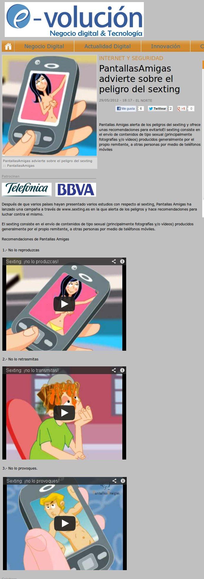 PantallasAmigas advierte sobre el peligro del sexting