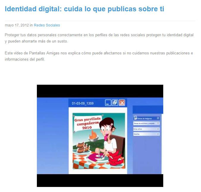 Identidad digital: cuida lo que publicas sobre ti