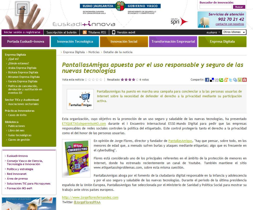 PantallasAmigas apuesta por el uso responsable y seguro de las nuevas tecnologías