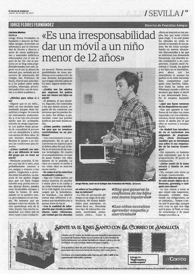 20150430 - Sevilla San Francisco de Paula Jorge en el Correo de Andalucia